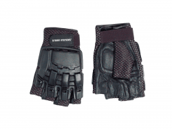 Strike Systems Armour Half-Finger Leather Gloves