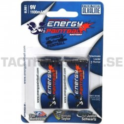 Energy Paintball 9v Batteri 2 Pack