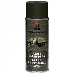 MFH Army Spray Paint 400 ml Matt Field Grey
