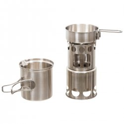 "Fox Outdoor Cook Set, ""Travel"", Stainless Steel"
