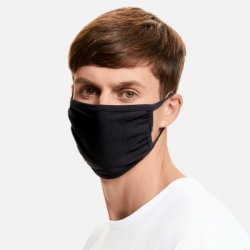 Fruit of the Loom Face Mask 3-ply - Black