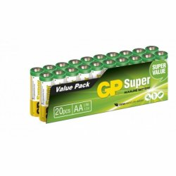 Batteri AA GP Super LR6 Alkaliskt 20-pack