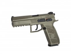 Airsoftpistol GBB CZ P-09 FDE full color