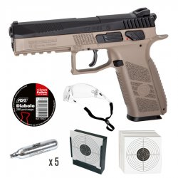 CZ P-09 Pellet Airgun CO2 4,5mm (diabol) -FDE Startpaket