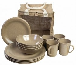 Highlander Eco-Friendly Picnic Set - 16st delar