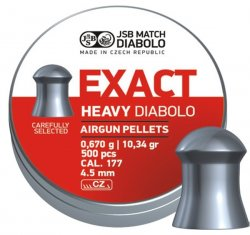 JSB Exact Heavy, 4,52mm - 0,670g