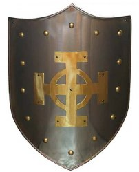 Marto Shield Brass Celtic Cross