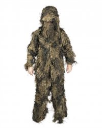 Miltec Ghillie Suit Anti Fire Kit Woodland