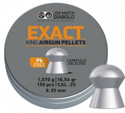 JSB Exact King Diabolo lead free, 6,35mm - 1,070g 150st