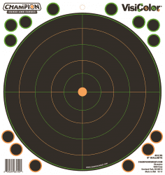 "Champion Visicolor 8""Bulls Eye Adhesive 5st"