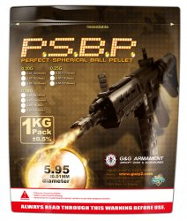 G&G PERFECT BB 0.28G (BLACK) 1KG/PACK(3571R)