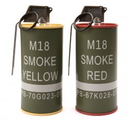 G&G MOCK M18 SMOKE GRENADE SHAPE BB Can SET RED/YELLOW