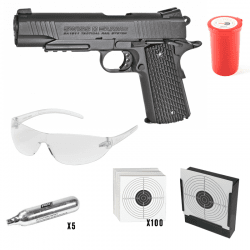 Swiss Arms 1911 Tactical Rail System 4,5mm CO2 GBB Black Kit