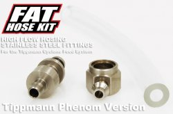 Fat Hose Kit for Tippman X7 Phenom - Clear Hose