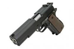 WE 1911 Dual Barrel GBB Pistol - Black