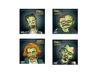 ASG Zombie Shooting targets 14x14cm 100 pcs.
