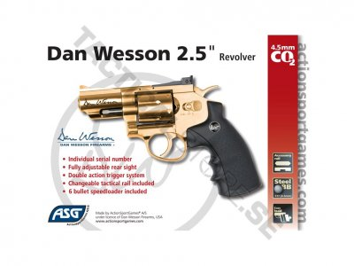 "Dan Wesson 2,5"" revolver CO2 4,5mm Gold"