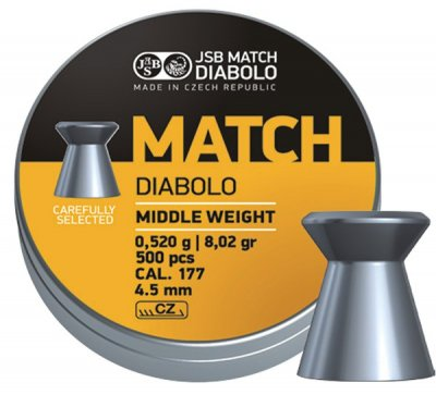 JSB Match Diabolo, Gevär 4,48mm - 0,520g