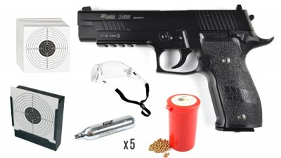 KWC Sig Sauer X-FIVE 4,5mm CO2 Blow Back Startpaket