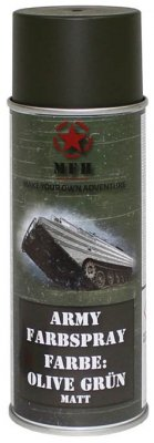 MFH Army Spray Paint 400 ml Olive Green Matt