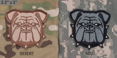 Patch MSM - Bulldog Head