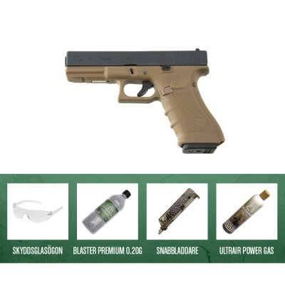 WE G-17 GBB Gen4 Tan - Airsoft Kit