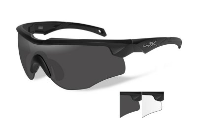 WileyX ROGUE Grey/Clear Matte Black Frame
