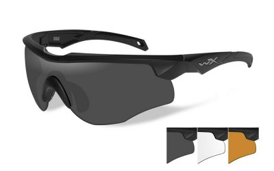 WileyX ROGUE Grey/Clear/Light Rust Matte Black Frame Kit