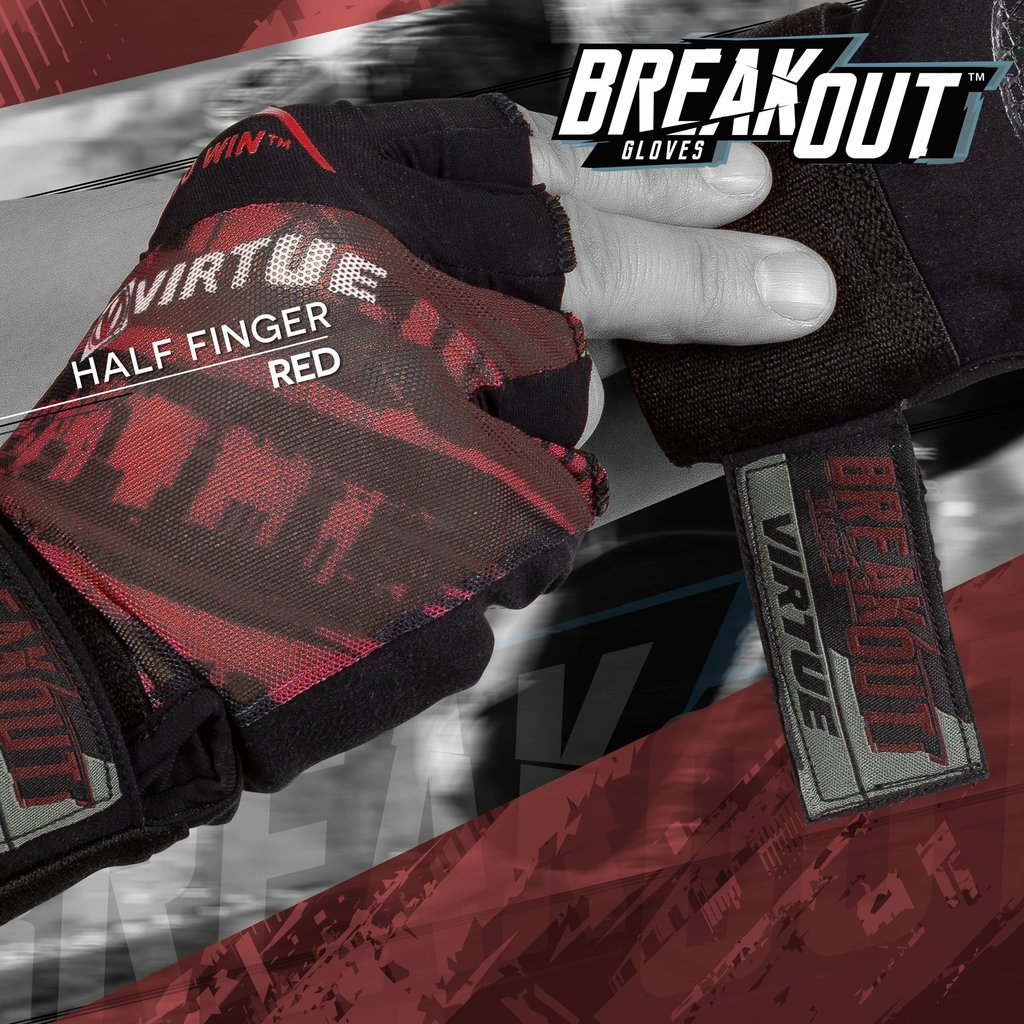 Half Finger Virtue Mesh Breakout Gloves Graphic Purple