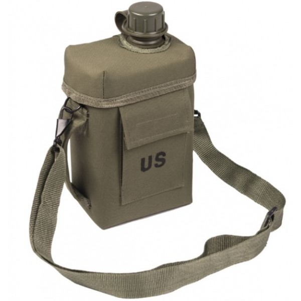 Miltec 1L Canteen with Protective Cover