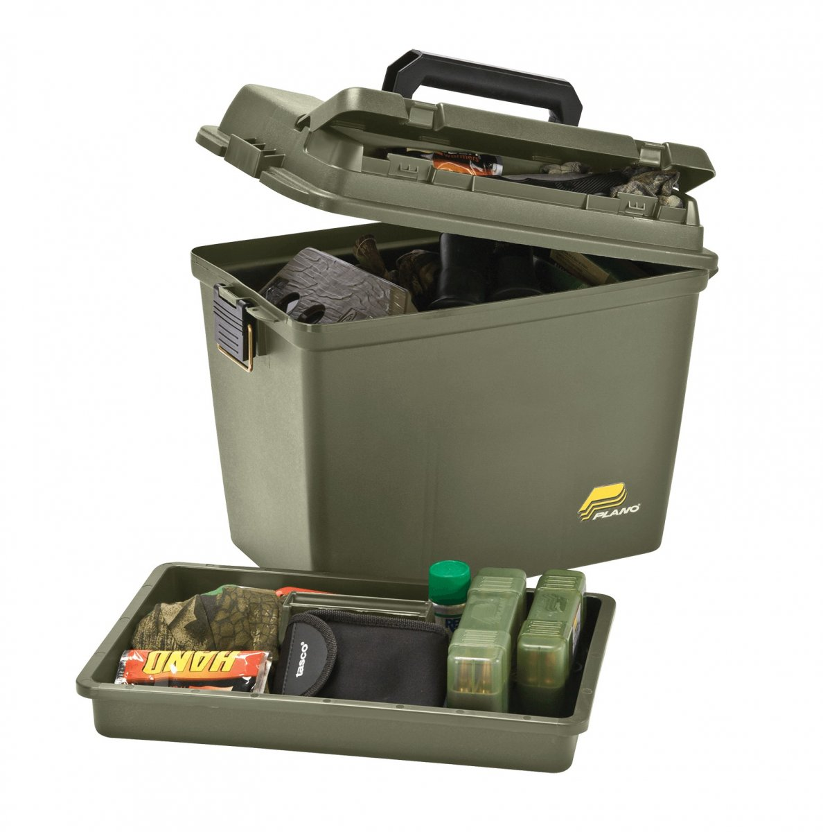Plano Magnum Ammo Box w/Lift out Tray and Dividers - O D  Green