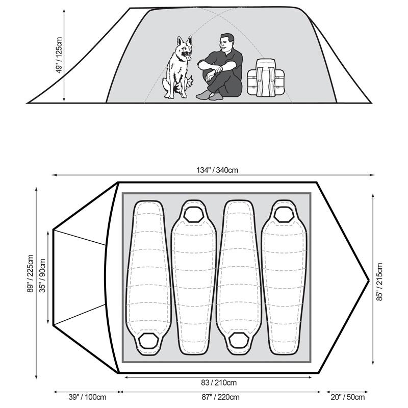 Snugpak The Cave 4 Mans Tält | Säkrating